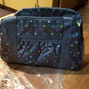 thirty-one Confetti Dot All-in-One Tote #6212